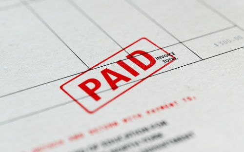 Paid Invoice - Medical Bill Compensation Concept