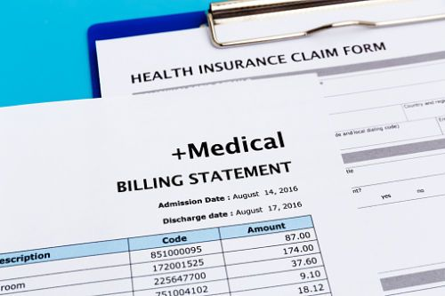 Medical Billing Statement - Personal Injury Compensation Concept
