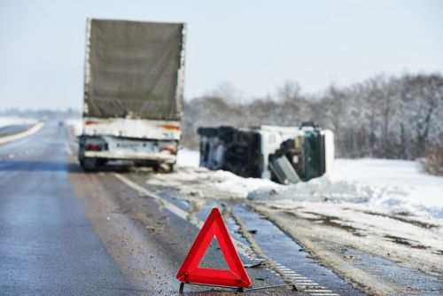 truck accident in the winter